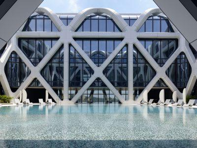 Morpheus Hotel de Zaha Hadid Architects en Macao, China. Fotografía: Virgile Simon Bertrand