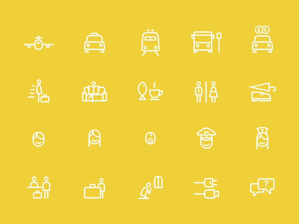 Unaeropuertoparaquedarse: iconografía y tipografía de Atipo