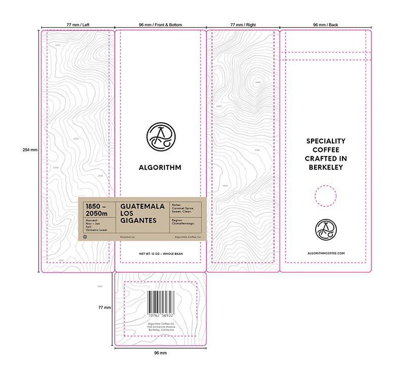 Algorithm Coffee renueva su packaging con el diseño de Anderson y Freytag