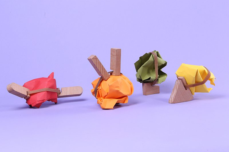 Roder, las piezas de manera que convierten objetos cotidianos en juguetes