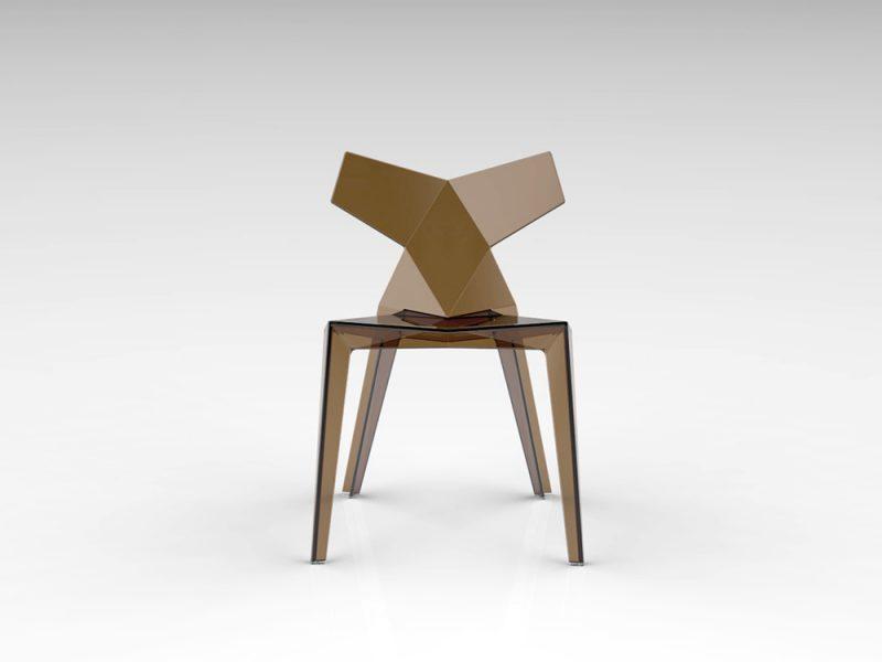 Sentarse en la geometría de un kimono. Una silla de Ramón Esteve