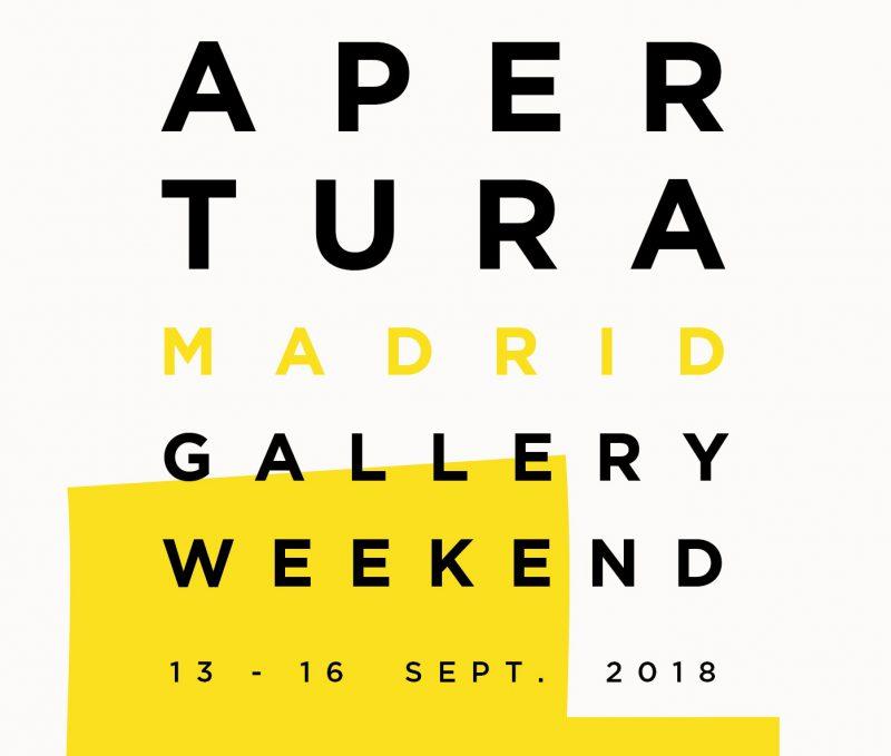 Del 13 al 16 de septiembre se celebra la9ª edición de Apertura Madrid Gallery Weekend.