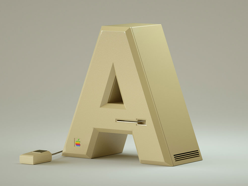 36 Days Electronics, la tipografía retro de Vinicius Araujo