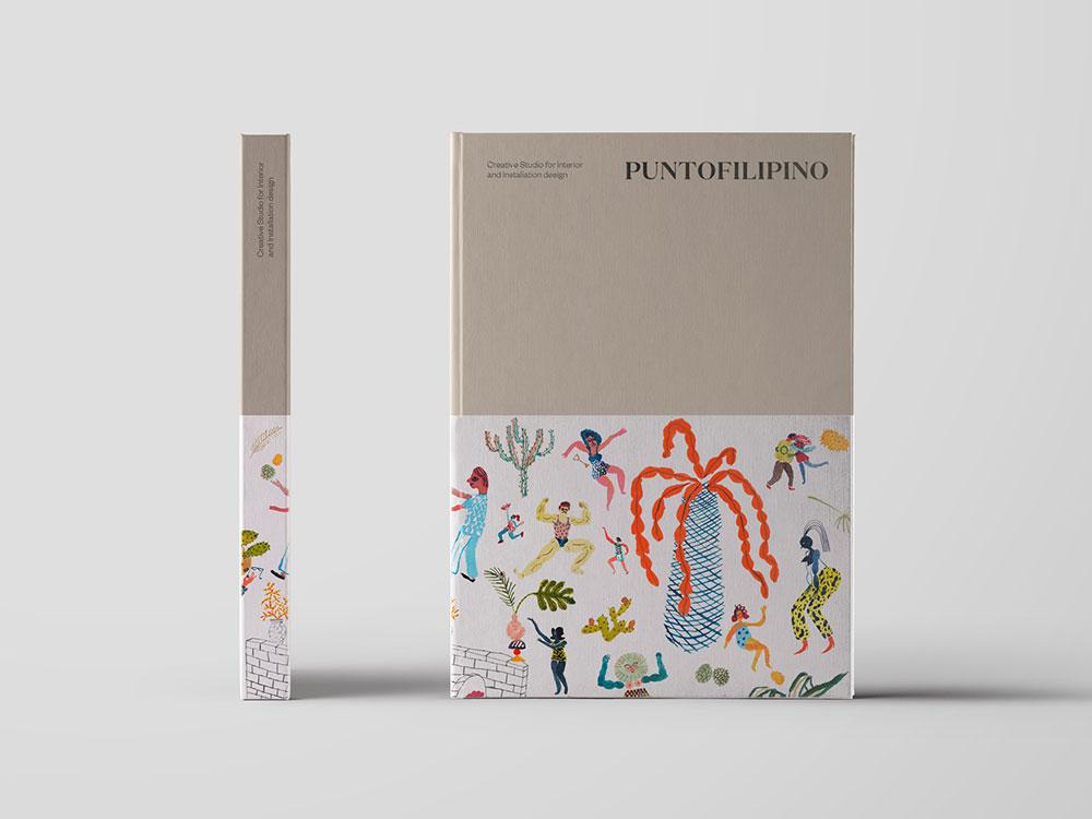 Clásico y moderno en la identidad de marca Puntofilipino diseñada por Buenaventura