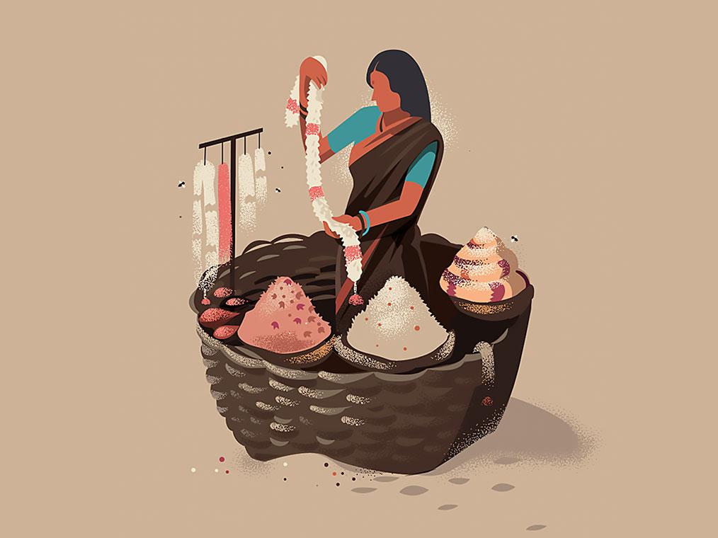 La identidad india representada en las ilustraciones de Krishnamani