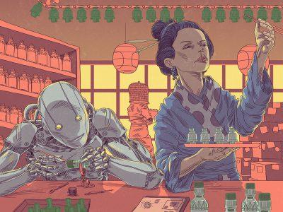 Gerhard Human para Dozo Tea: ilustraciones basadas en el manga japonés