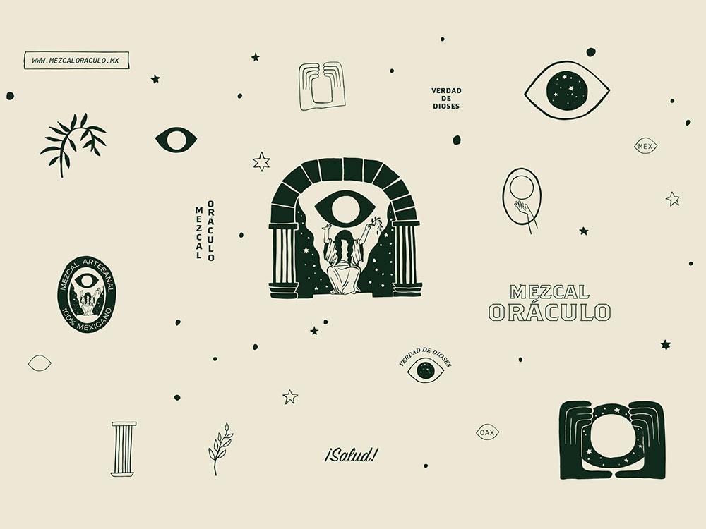 Misticismo en el branding de Karla Heredia para el mezcal Oráculo