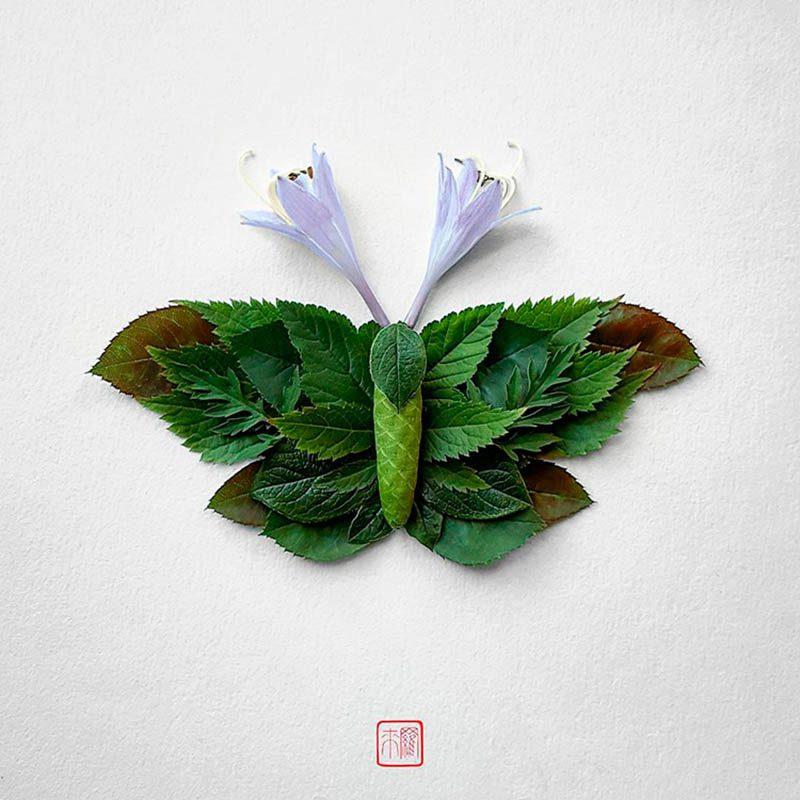 Natura Insects, los insectos florales de Raku Inoue