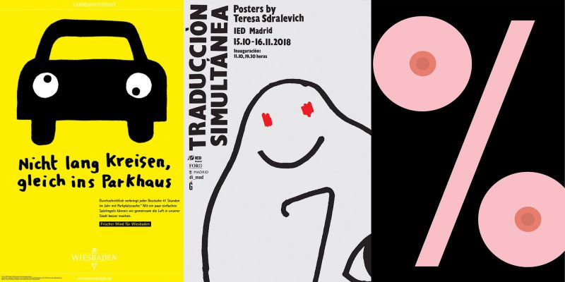 """""""Traducción simultánea. Posters by Teresa Sdralevich"""" una exposición en la que destaca la capacidad de interpretar que tienen los diseñadores gráficos. Disponible hasta el 23 de noviembre."""