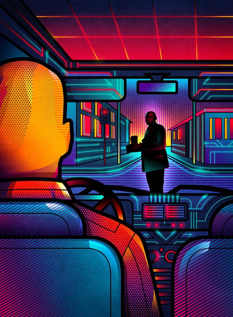 Van Orton: ilustraciones inspiradas en la cultura pop de los años 80