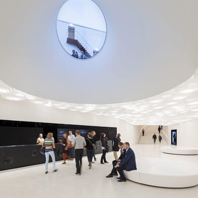Amos Rex, el museo subterráneo de arte, JKMM (Helsinki, 2018) © Mika Huisman
