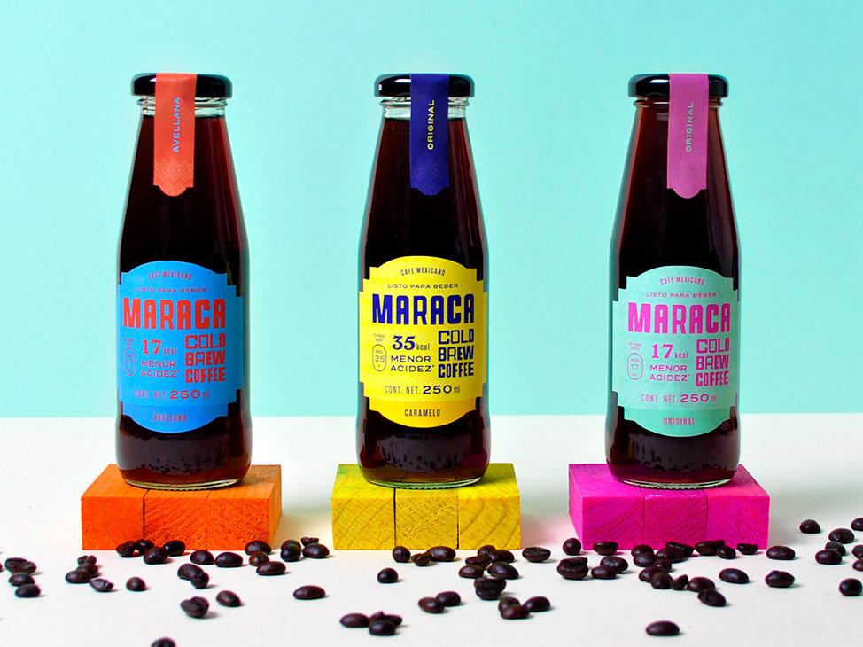 Maraca, un proyecto integral de Firmalt. Color para un café helado