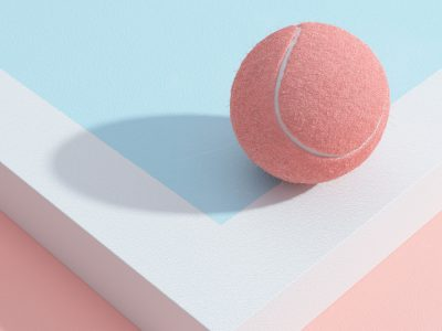 Tennis, ilustración 3D de Molistudio. Un juego sin reglas