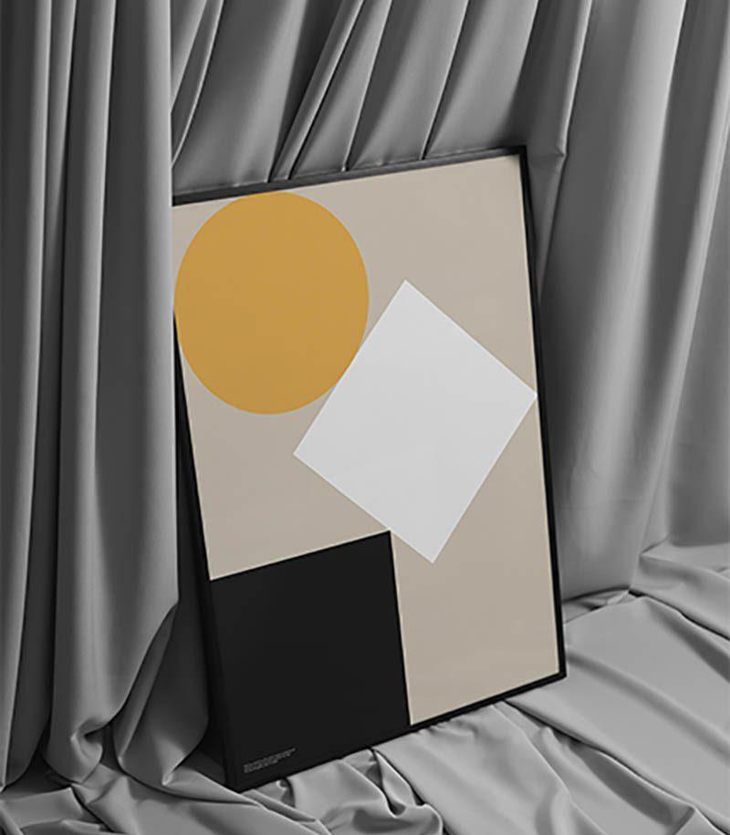 Dentro, pósters de diseño elaborados con papel reciclado de vasos de café