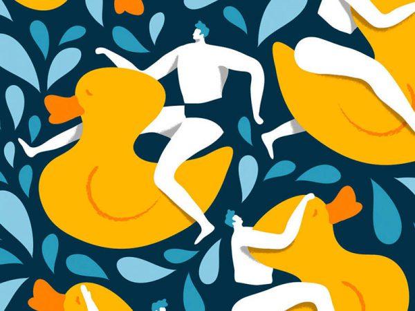 Coloridos patrones en las ilustraciones de Quentin Monge