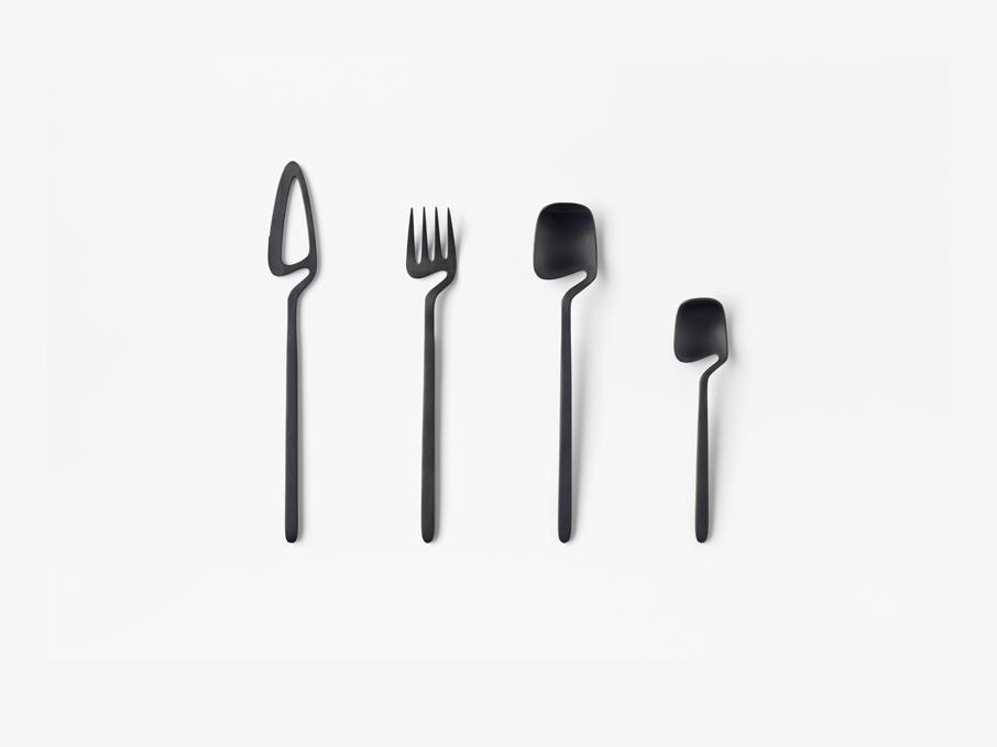 Skeleton, la cubertería minimalista de Nendo. Diseño japonés