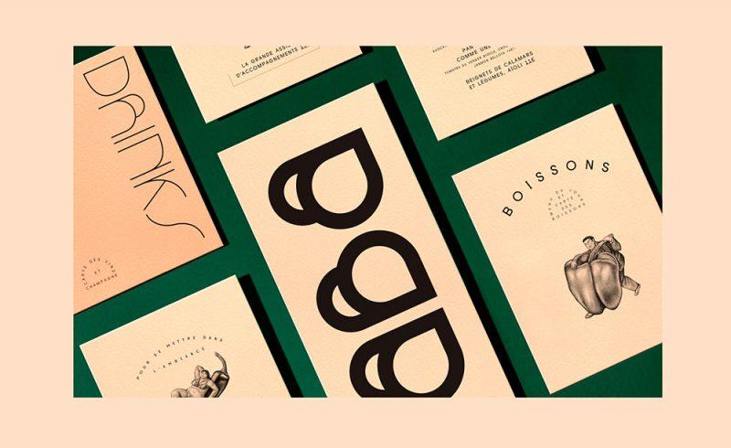 Baba, identidad gráfica de Violaine & Jérémy. Tipografía e ilustración