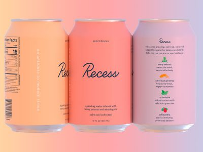 Recess, branding por Gin Laney Day Job.