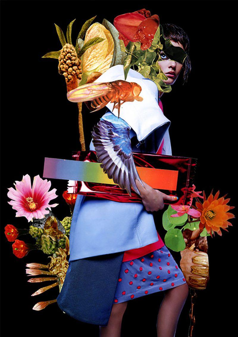 El collage de Ashkan Honarvar. Surrealismo iraní, diseño holandés