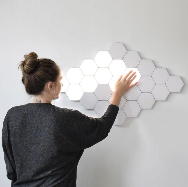 Helios Touch, de James Vanderpant. Un aplique de iluminación modular y sensible al tacto