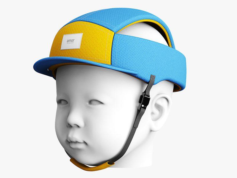 Casco de seguridad para bebes de S2 Victor. Buen diseño surcoreano