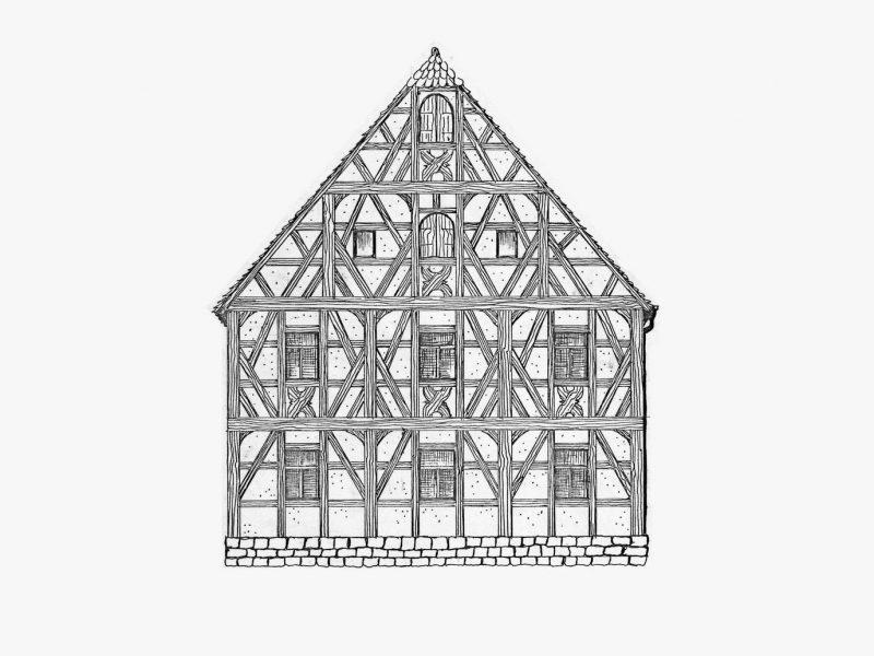 Haus, diseño de marca de Freytag Anderson. Las fachwerkhaus como fuente de inspiración