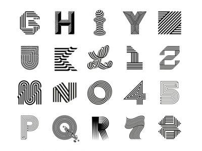 Los juegos tipográficos Op-art de Sergi Delgado. Trazo firme barcelonés
