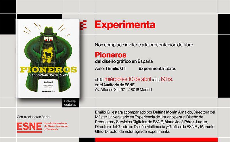 Presentación de Pioneros del diseño gráfico en España, un libro de Emilio Gil