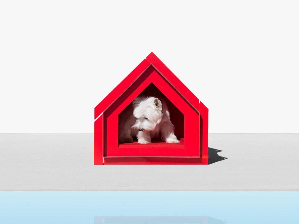 Touffu, caseta para mascotas inspirada en la carpintería tradicional japonesa