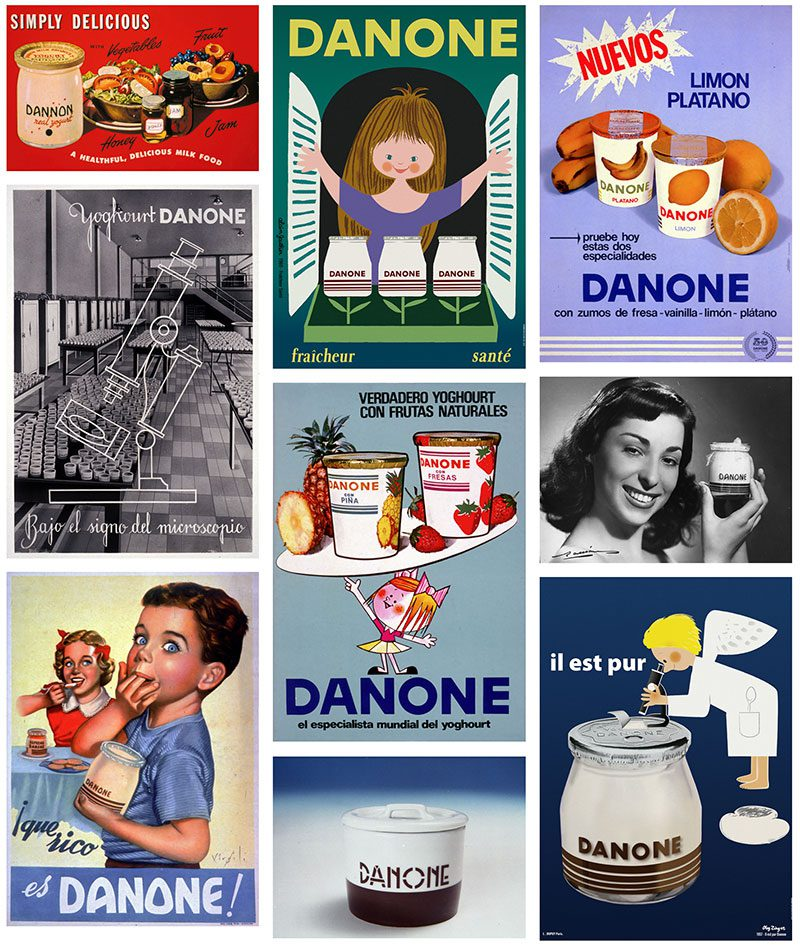 Un siglo de historia del yogur, todo ala gráfica de Danone en el Museo del Diseño de Barcelona