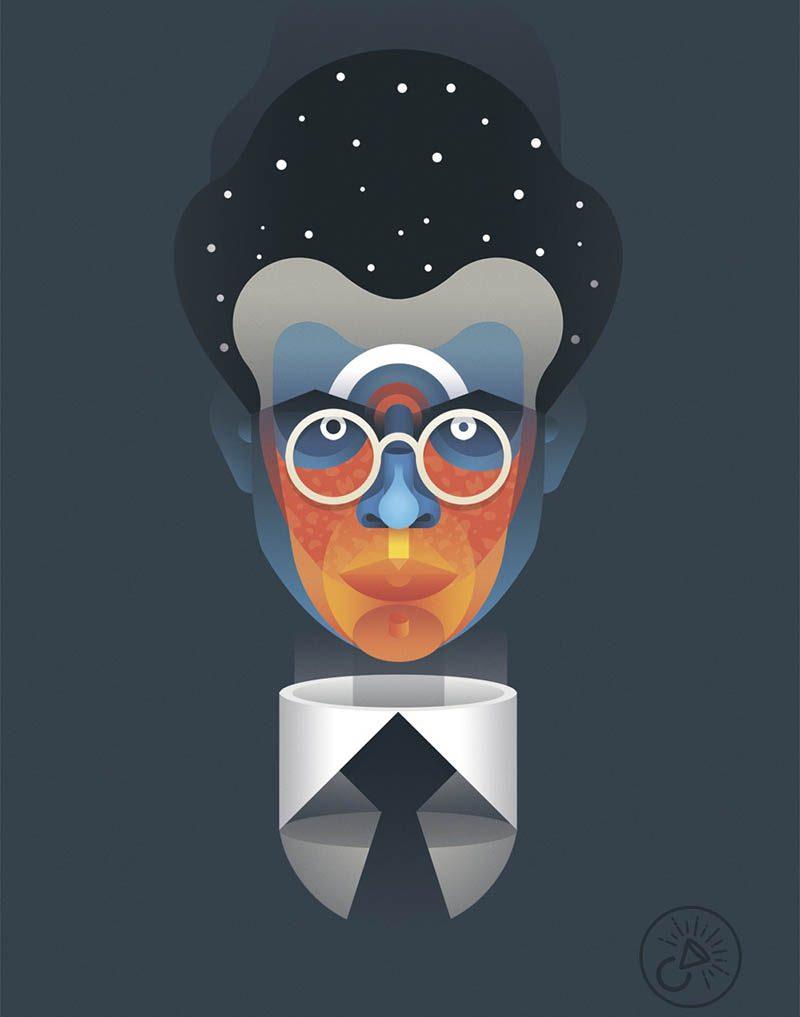 Casmic Lab. Geometría y color en los retratos fantásticos de la dupla valenciana