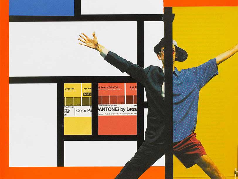 Collages de rompe y rasga, una muestra de Emilio Gil.  Citas gráficas, visuales, formales