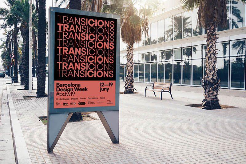 Dinamismo y flexibilidad en la gráfica de Esiete diseñada para Barcelona Design Week 2019