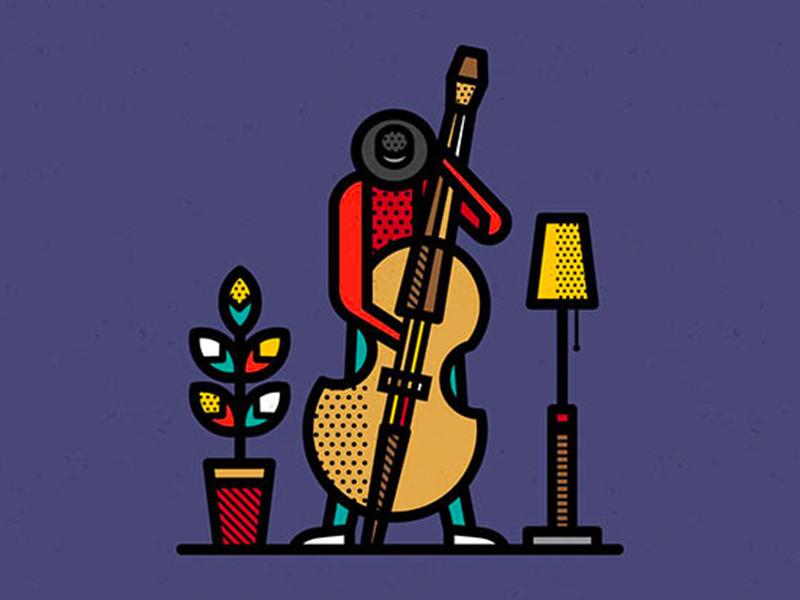 Las robustas ilustraciones de Mike Karolos. De Stijl y arte pop