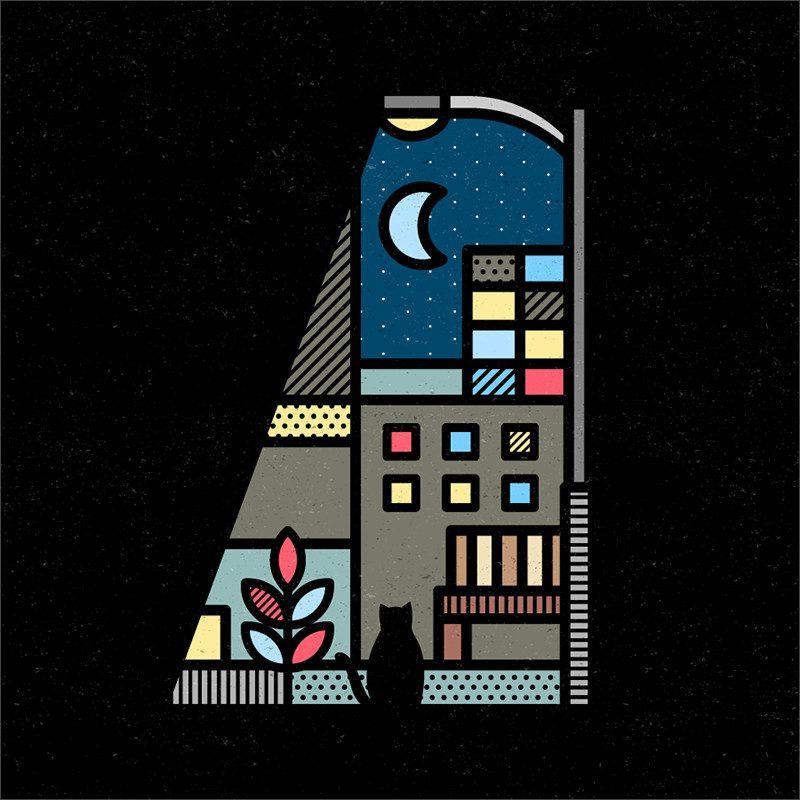 Trazos gruesos y colores puros en las ilustraciones de Mike Karolos