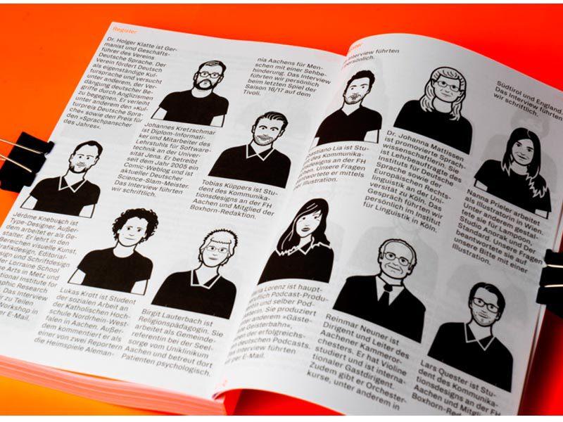Boxhorn #33, diseño editorial de la Universidad FH Aachen. Revista temática realizada por estudiantes