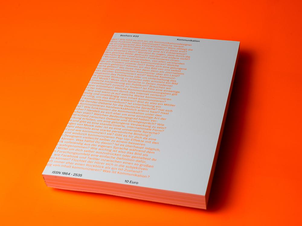 Boxhorn #33: estudiantes de la universidad FH Aachen diseñan el ultimo número de su revista