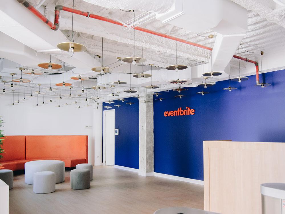 Unen y Mónica Diago diseñan las nuevas oficinas de Eventbrite en Madrid