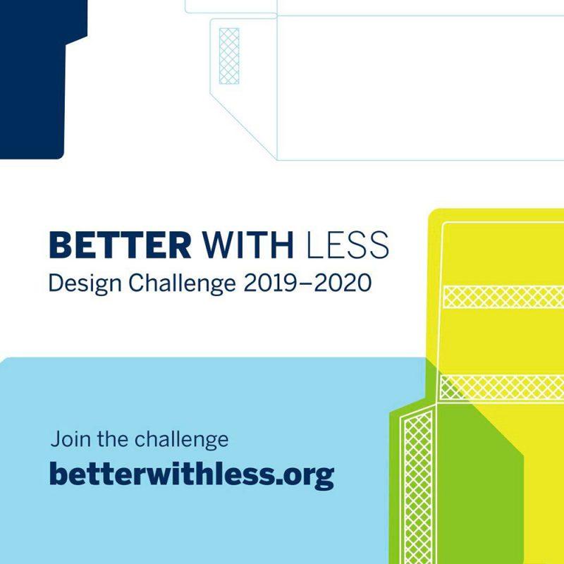 El concurso de diseño de envases Better with Less – Design Challenge 2019-2020 abre el plazo de inscripción