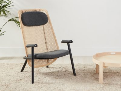 Fold, la silla lounge de Alain Gilles para Another Country. Repensar el rattan
