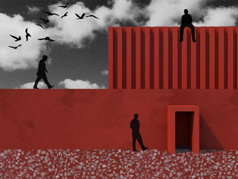 Luces y sombras en las ilustraciones arquitectónicas de Anastasia Kraynyuk