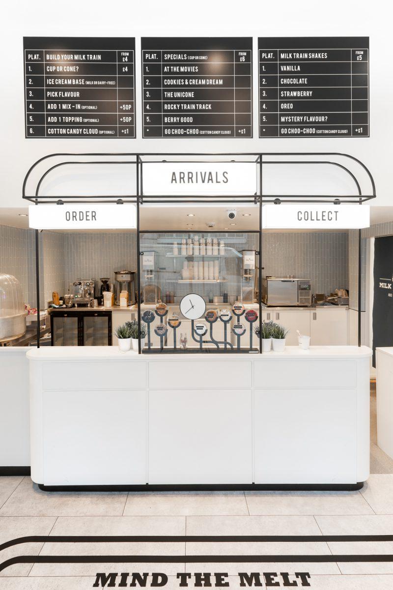 Milk Train, el diseño de una heladería londinense. Art déco e instagramers