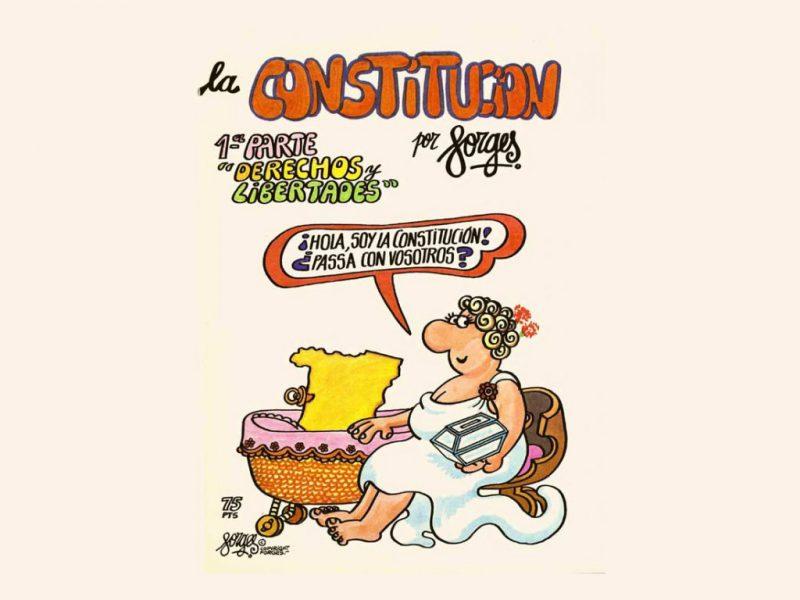 La Constitución por Forges. Viñetas en la Biblioteca Nacional de España