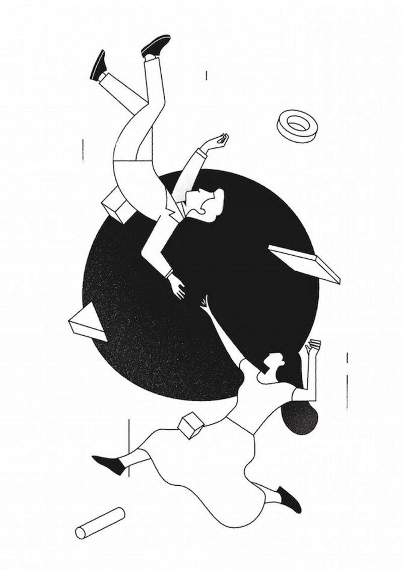 Las ilustraciones de Timo Kuilder. La eficiencia de los trazos, la austeridad de los elementos
