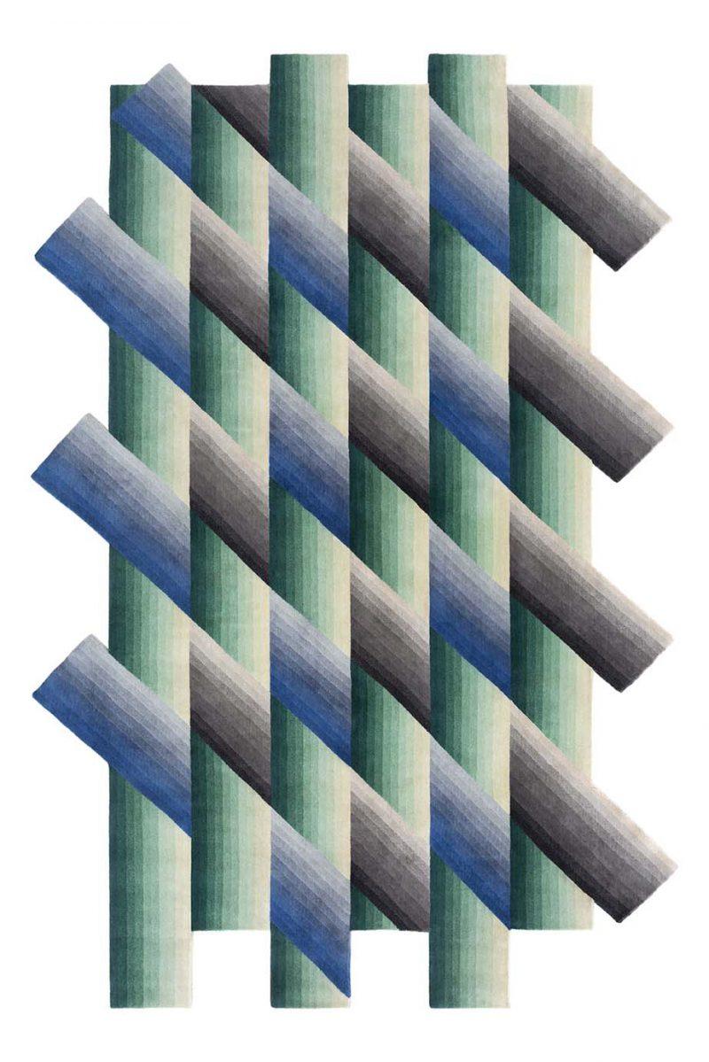Mirage, la geometría de una alfombra. Patricia Urquiola para Gan