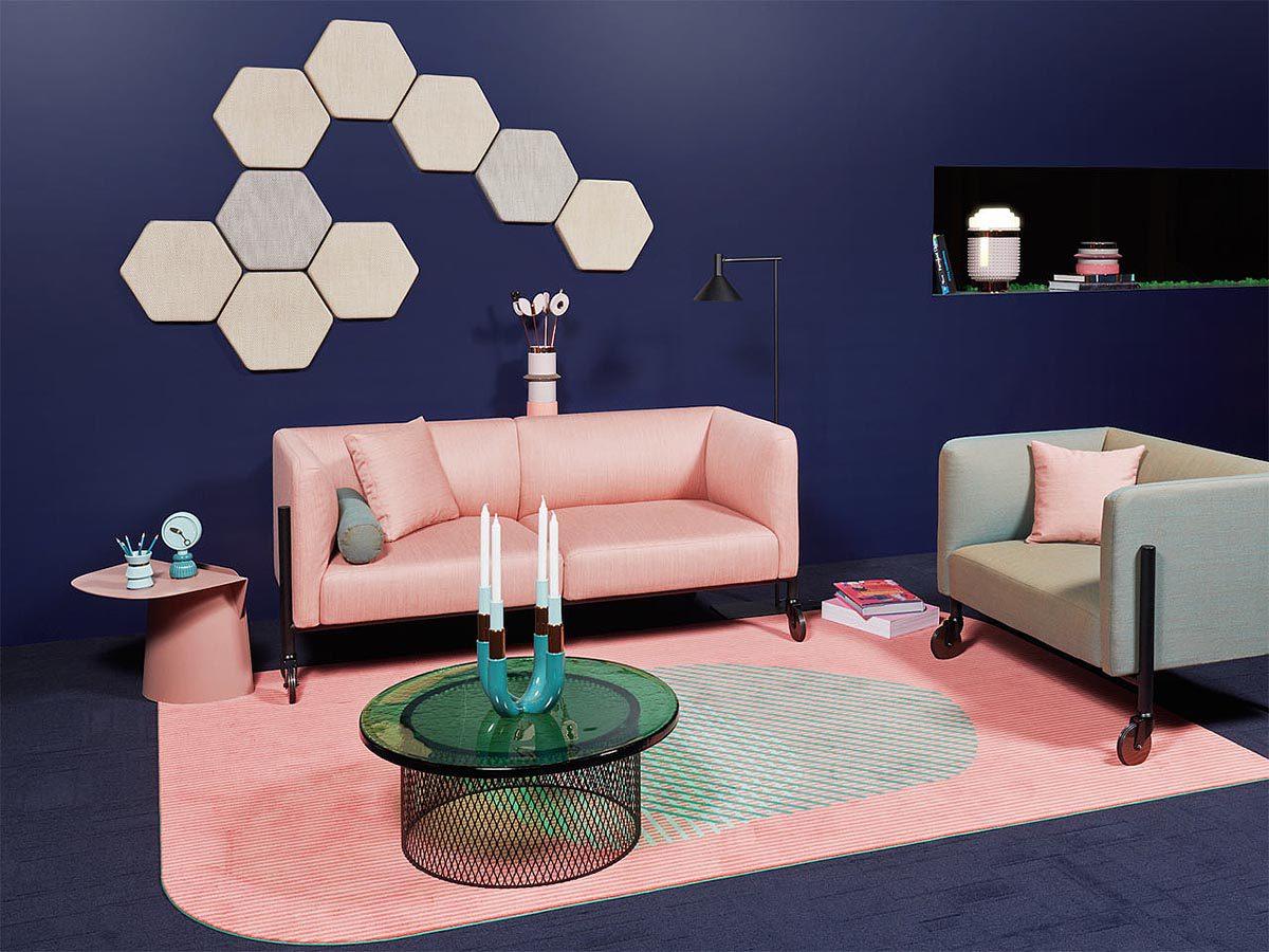 Valet, la colección de sofas móviles inspiración Memphis de LeviSarha