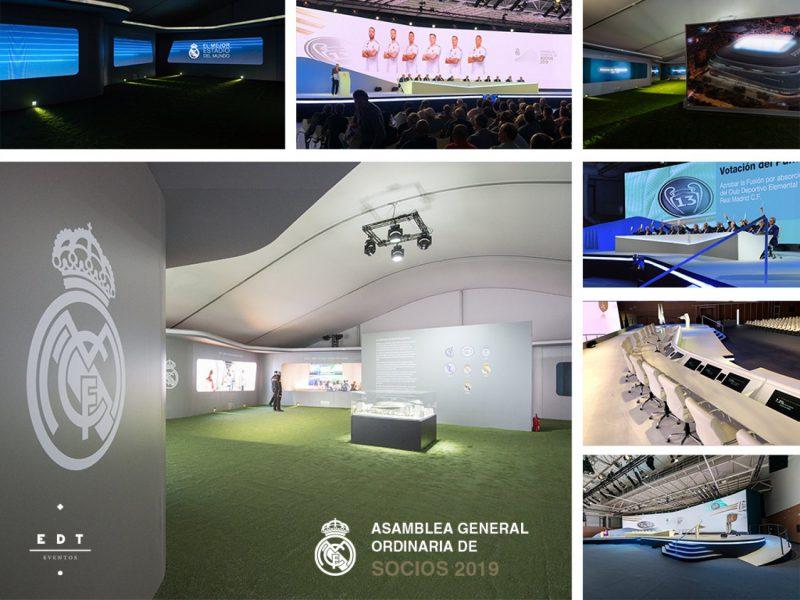 Emporia de Oro a la mejor decoración de una asamblea o junta de accionistas: Real Madrid-Asamblea General Ordinaria de Socios, de EDT Eventos