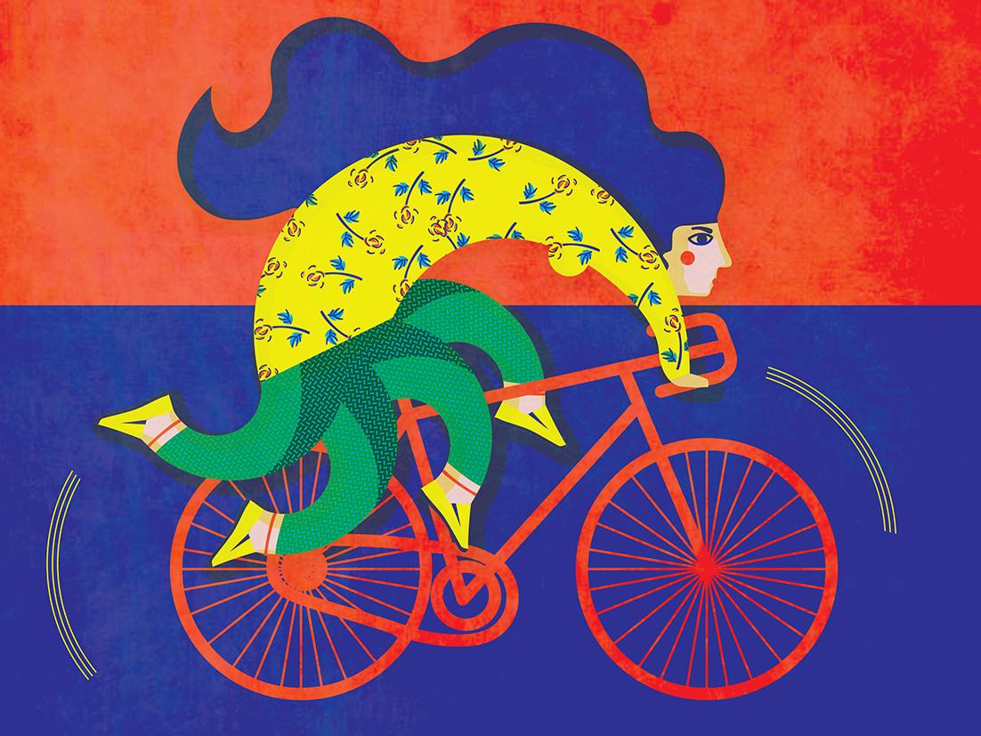 Las ilustraciones de Andreea Dobrin. Surrealismo, color y bidimensionalidad