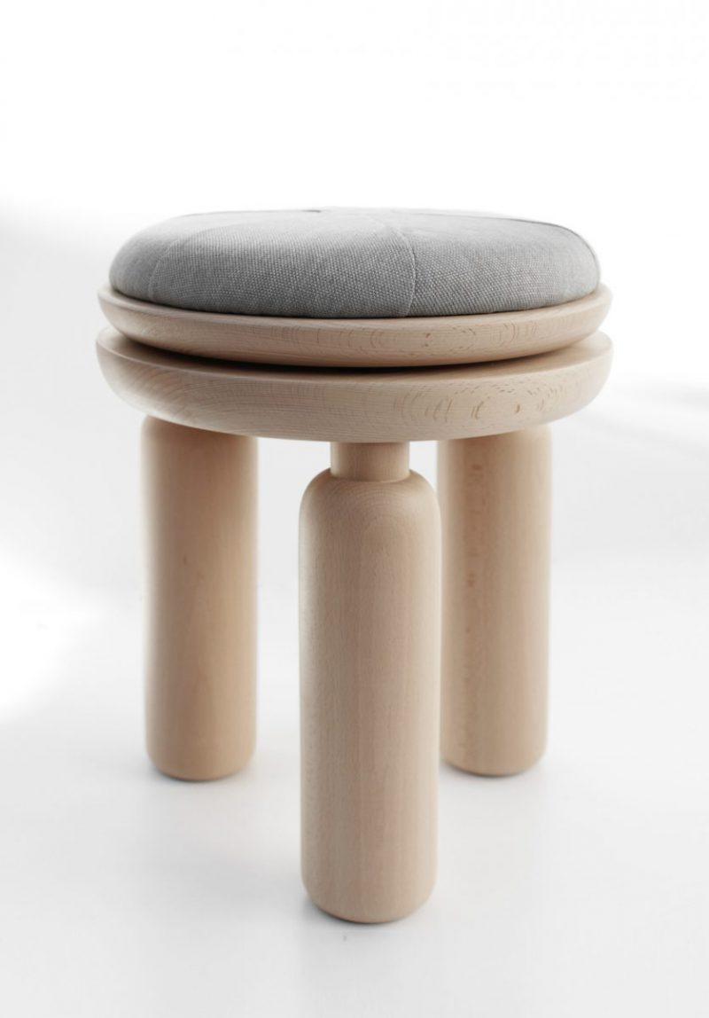 Baobab, los robustos taburetes de Taller Piccolo. Buen diseño malagueño