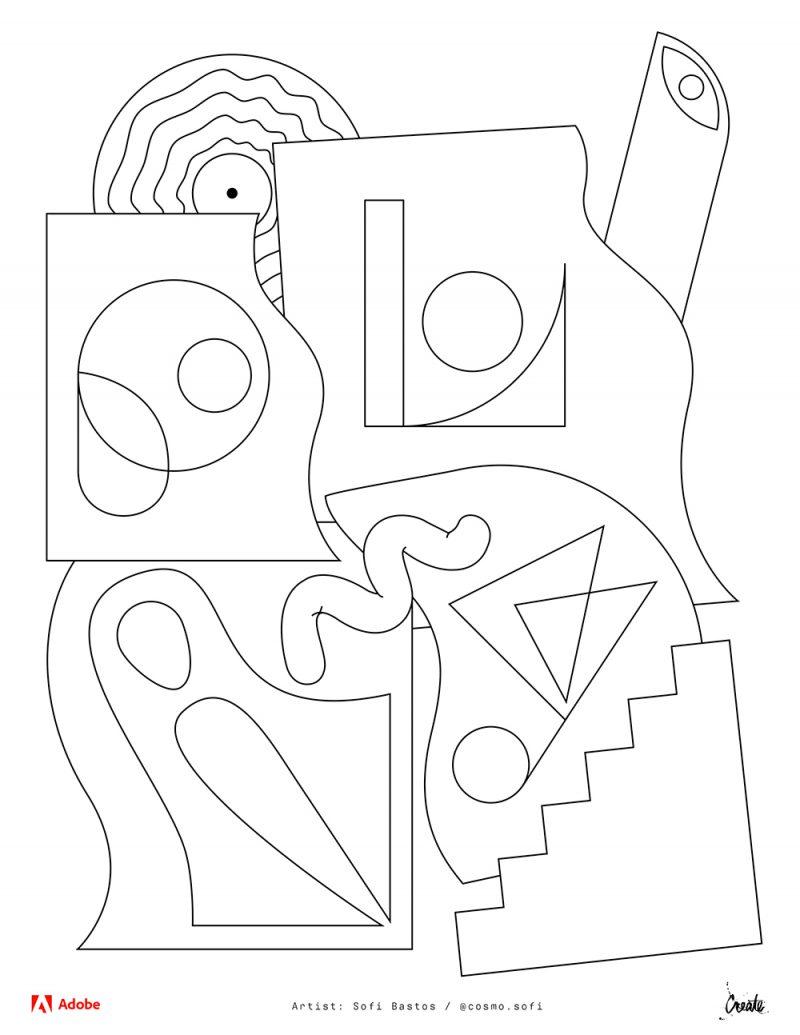 Adobe Coloring Book: las ilustraciones para colorear de descargas gratuita de Adobe